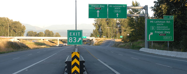 BC road signs